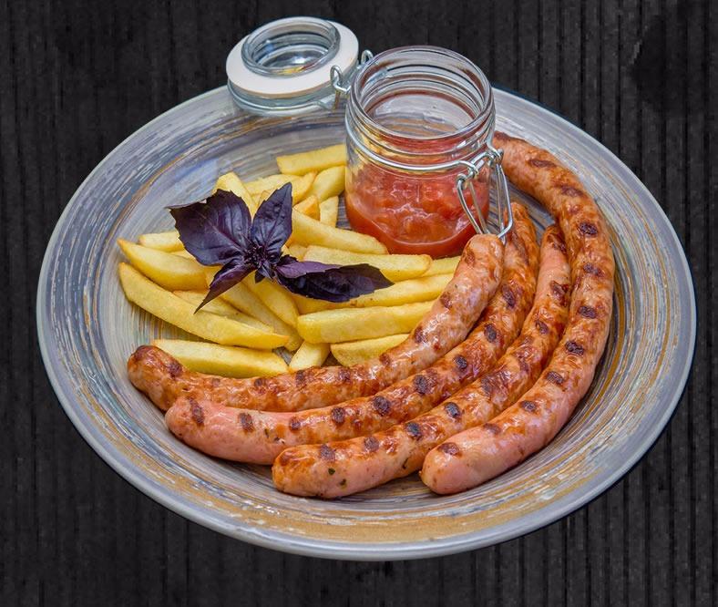 Мюнхенская колбаска с картошкой фри